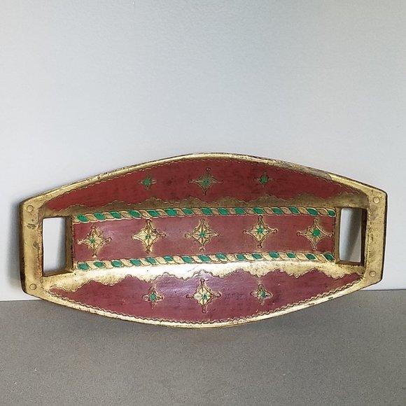 Vintage Wooden Handpainted Buckle